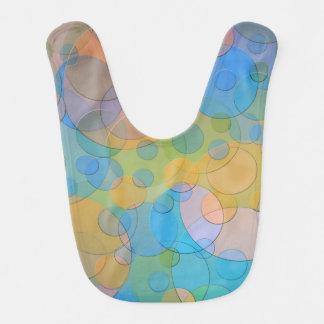 Arte moderno del extracto de cristal colorido de babero de bebé