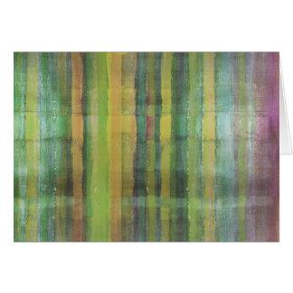 Arte moderno del extracto de los colores verdes tarjeta de felicitación