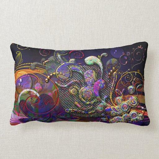 Arte moderno del extracto divertido de los remolin almohada