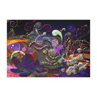Arte moderno del extracto divertido de los remolin impresiones en lona