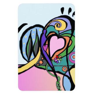 Arte moderno del flujo del corazón imán de vinilo