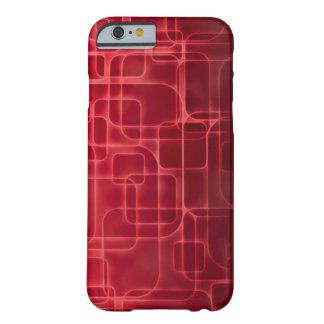 Arte moderno del laser del rojo funda de iPhone 6 barely there
