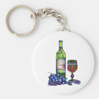 Arte moderno del vino y de las uvas llaveros