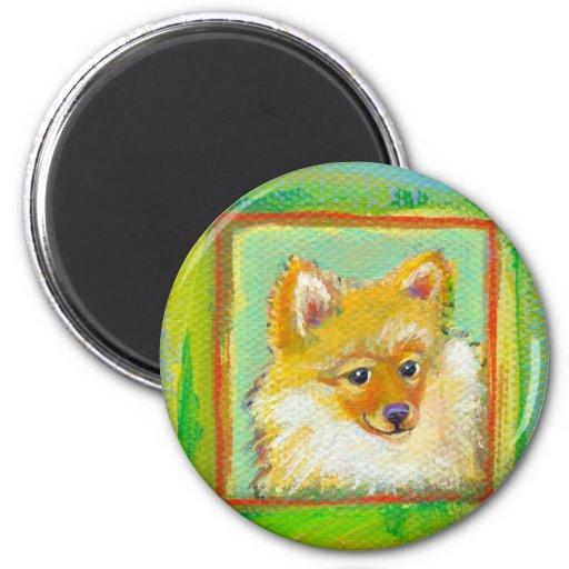 Arte moderno dulce divertido del perro del perrito imanes