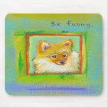 Arte moderno dulce divertido del perro del perrito tapetes de ratón