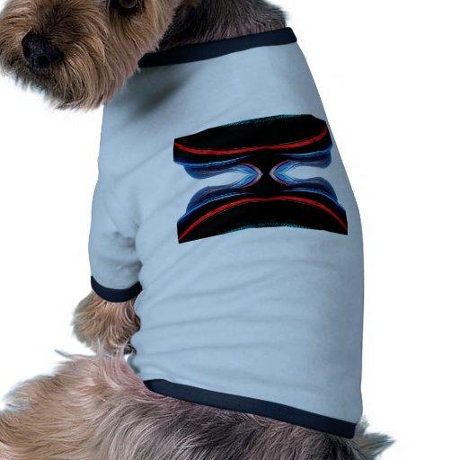Arte moderno futurista urbano de los armónicos camiseta con mangas para perro