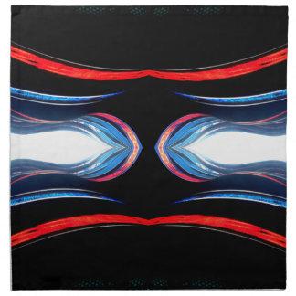 Arte moderno futurista urbano de los armónicos flú servilletas de papel
