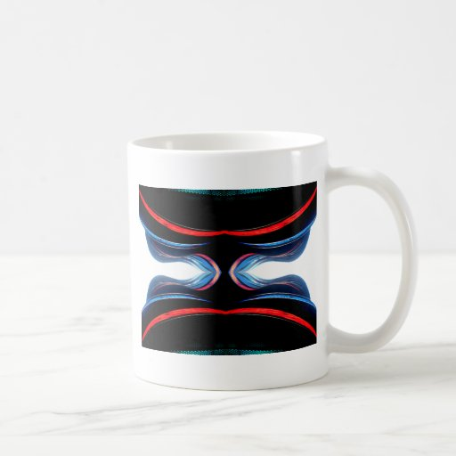 Arte moderno futurista urbano de los armónicos taza de café