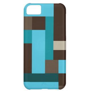Arte moderno geométrico del trullo y de Brown de Funda Para iPhone 5C