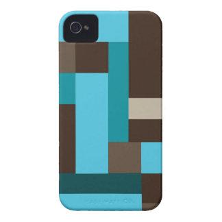 Arte moderno geométrico del trullo y de Brown de Case-Mate iPhone 4 Cárcasa