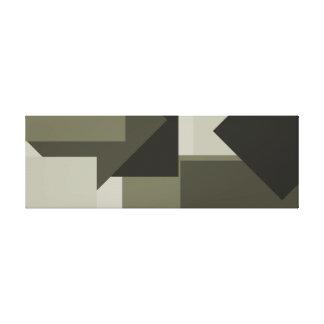 Arte moderno intrépido 2 del verde caqui verde impresión en lona