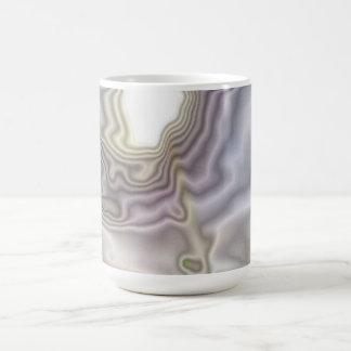 Arte moderno inusual taza clásica