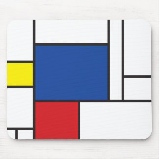 Arte moderno minimalista de Mondrian de Stijl simp Tapetes De Ratón