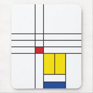 Arte moderno minimalista de Mondrian de Stijl Mouse Pad
