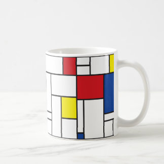 Arte moderno moderno minimalista de Mondrian de Taza Clásica