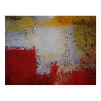 Arte moderno - pintura del arte abstracto tarjeta postal