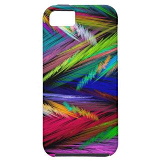 Arte moderno psicodélico brillantemente coloreado funda para iPhone SE/5/5s