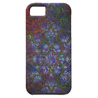 Arte moderno psicodélico orgánico y geométrico funda para iPhone SE/5/5s
