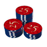 Arte moderno rojo fichas de póquer