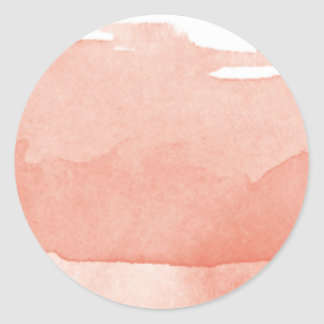 Arte moderno rosado coralino de Ombre de la Pegatina Redonda
