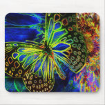 Arte Mousepad de Digitaces de la mariposa Tapete De Raton