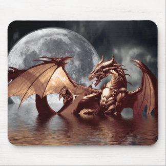 Arte Mousepad de la fantasía del dragón y de la lu Alfombrillas De Raton