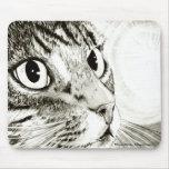 Arte Mousepad de la fantasía del gato de Tabby de  Alfombrilla De Ratón