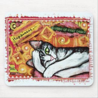 Arte Mousepad del gato del zen
