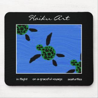 Arte Mousepad del Haiku de Seaturtles Tapetes De Ratón