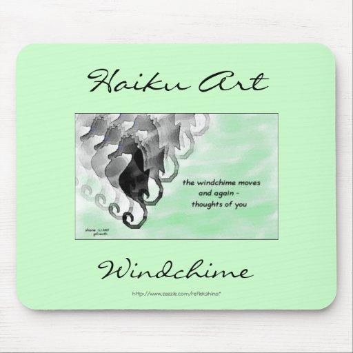 Arte Mousepad del Haiku de Windchime