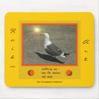 Arte Mousepad del Haiku del calor que chorrea sudo Tapete De Ratones