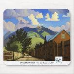 Arte MOUSEPAD del oeste - montaña de Taos Alfombrillas De Raton