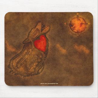 Arte Mousepad del Ojibwe-estilo del lobo del grito Alfombrilla De Ratón