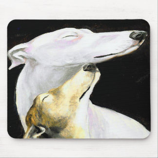 """Arte Mousepad del perro del amor del galgo"" Tapete De Ratones"