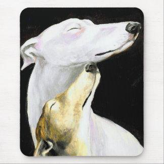Arte Mousepad del perro del amor del galgo Tapete De Ratones