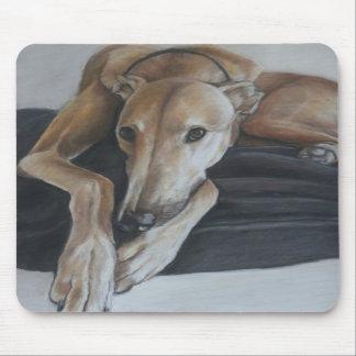 Arte Mousepad del perro del galgo Tapetes De Raton