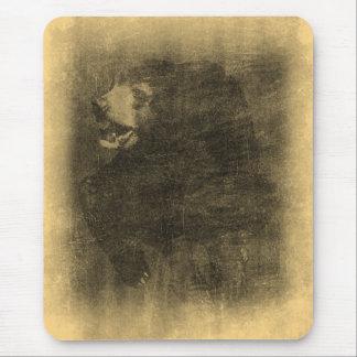 Arte Mousepad del vintage del oso negro
