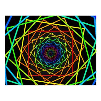 Arte móvil de la ilusión óptica tarjeta postal