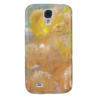 Arte mullido de CricketDiane del oso de peluche Funda Para Galaxy S4