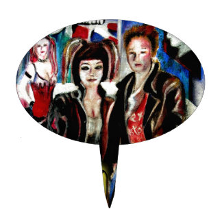 arte, música de punk rock, moda y estilo figura de tarta