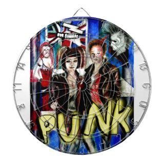 arte, música de punk rock, moda y estilo tabla dardos