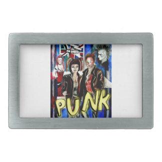 arte, música de punk rock, moda y estilo hebillas cinturon rectangulares