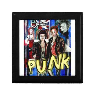 arte, música de punk rock, moda y estilo cajas de joyas
