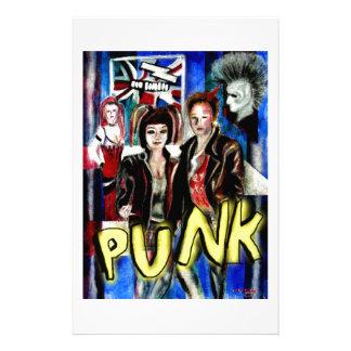 arte, música de punk rock, moda y estilo papeleria