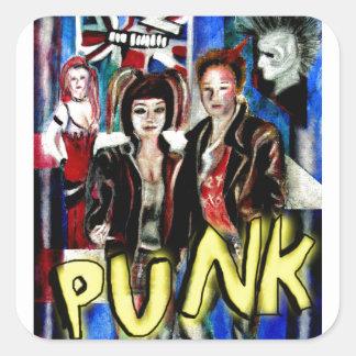 arte, música de punk rock, moda y estilo pegatina cuadrada