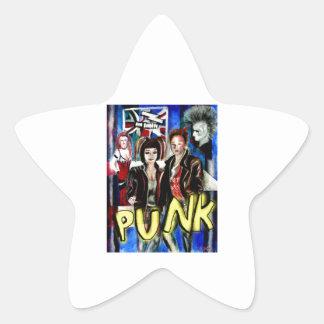 arte, música de punk rock, moda y estilo pegatina en forma de estrella