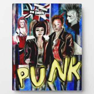 arte, música de punk rock, moda y estilo placas de plastico