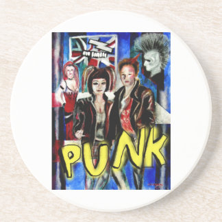 arte, música de punk rock, moda y estilo posavasos cerveza