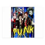 arte, música de punk rock, moda y estilo postal