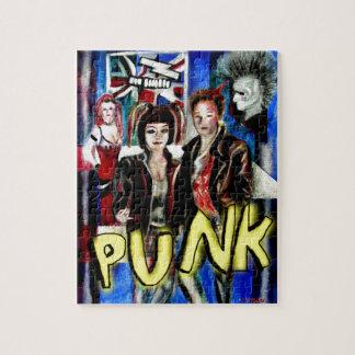 arte, música de punk rock, moda y estilo rompecabezas